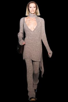 HOW TO WEAR THIS TREND :  KNIT ROMPER TREND - KNIT OVERALLS - KNIT SALOPETTE  Head-to-Toe Knits - The Cut