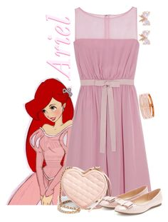 """Ariel"" by alyssa-eatinger ❤ liked on Polyvore featuring Disney, Giambattista Valli, Rebecca Minkoff, Forever 21 and Henri Bendel"