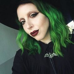"""Channeling a """"western ghost"""" the other day for day one of @katvondbeauty training. I feel so incredibly blessed to be a part of the Kat Von D beauty Artistry team! It's such an amazing, inspiring team of artists! See you this weekend at the Dallas make up show! On my lips I Mixed """"Nosferatu"""" & """"damned"""" everlasting lipsticks by #katvondbeauty. My eyes are pretty much the entire """"shade and light eye pallet"""" and """"trooper"""" tattoo liner. my hair cut/ color by the incomparable @shearsteph"""