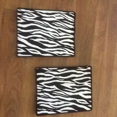 Canvas and zebra print fabric wall boards! Super easy