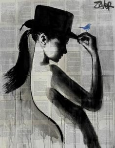 "Saatchi Art Artist Loui Jover; Drawing, ""ponytail"" #art"