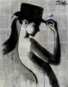 "Saatchi Art Artist Loui Jover; Drawing, ""ponytail"" #art"