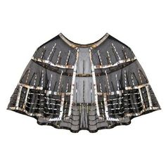 Preowned Art Deco Silver Sequins Cape Circa 1920s ($405) ❤ liked on Polyvore featuring 1920s and multiple