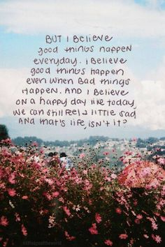 good things happen...