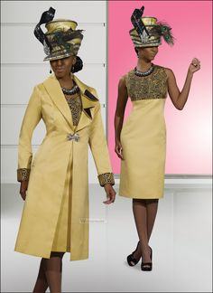 Special Occasion Ladies Custard Corlor Dress and Jacket Set by Donna Vinci 5426 $289.00