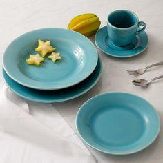 Aparelho de Jantar 20 Peças Cerâmica Verde Aruba - La Cuisine