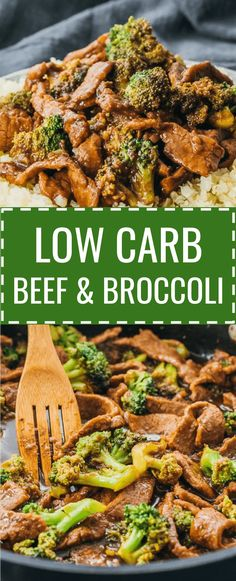 A low carb and keto friendly version of beef and broccoli stir fry. cauliflower rice / veggies / dinners / diet / atkins / induction / meals / recipes / easy / dinner / lunch / foods / healthy / gluten free / panda express / chinese / sauce / stirfry / mongolian / best / korean / asian / marinade / pf changs / quick / authentic / simple / flank steak / skillet / take out #beef #dinner #keto #lowcarb