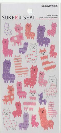 Cute Kawaii Japanese Translucent Stickers Derpy Alpacas  https://www.etsy.com/listing/186383170/kawaii-japan-sticker-sheet-assort-sukeru?ref=shop_home_active_5