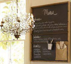 chalkboard in kitchen... I love it.
