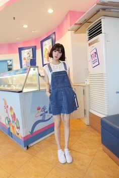 ˗ˏˋ ♡ @ e t h e r e a l _ ˎˊ˗ Casual Outfits, Girl Outfits, Fashion Outfits, Casual Attire, Women's Fashion, Cute Asian Fashion, Korean Fashion, Overalls Outfit, Dungarees