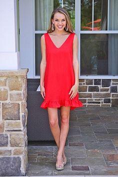 1762861f2f8a Red Hot Ruffle Dress. Blue Door BoutiqueRuffle ...