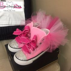 Tutu bling converse by XpressiveDesigns101 on Etsy Bling Converse b7caf98e1