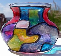 Art: Potbelly Bowl  by Artist Diane G. Casey