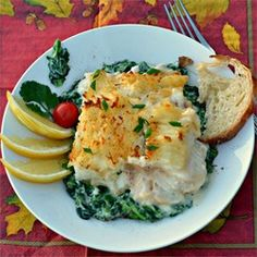 Chef John's Fisherman's Pie  cod and spinach variety. Looks good and like his recipes so probably good.