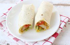 Mexicaanse wraps met kip, guacamole en sla