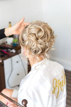 An enchanting castle wedding in Dorset Curled Updo Hairstyles, Bridal Hairstyles, Pretty Hairstyles, Wedding Album, Eagles, Proposal, Seaside, Castle, Dreadlocks