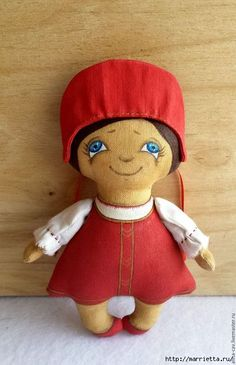 Russian beauty in the headdress.  Sew coffee toy (3) (420x651, 138Kb)