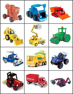 Bob the Builder Game Cards