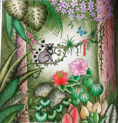Learn how to color the background. Jungle Coloring Pages, Coloring Book Pages, Magical Jungle Johanna Basford, Coloring Canvas, Polychromos, Joanna Basford, Jungle Art, Johanna Basford Coloring Book, Colouring Techniques