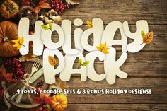 Holiday Font Pack by Denise Chandler Holiday Fonts, Christmas Fonts, Snow Overlay, Create Font, Cool Fonts, Fun Fonts, Awesome Fonts, Halloween Fonts, Font Packs