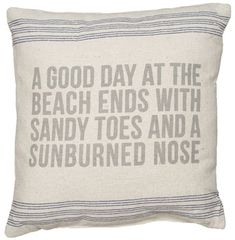A Good Day Linen Pillow