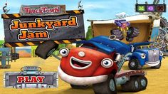 In TruckTown Junkyard Jam, you have to find a way for Jack and his friends return to the junkyard, before time runs out. Follow the indications given in the game, but mostly, what you will have to do, kids, is to move the tiles position's and make them connect, creating a road for the cars to drive back to the junkyard. Have fun playing with TruckTown!