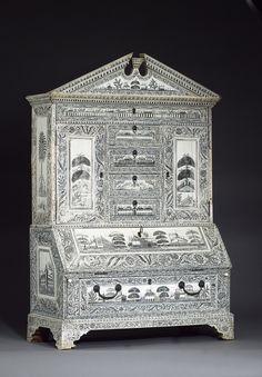 Figure 7. Miniature cabinet with ivory veneer. Vizagapatam, c.1770-1780. Image courtesy of Bonhams.