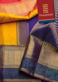 Get ready to get mesmerised by the colourful riot in this bold and beautiful number in yellow. Double bordered – orange and purple – emphasise the self print leaves along the length of the saree. An interplay of rich designs on the purple pallu crowns off the perfect finish.#Utppalakshi #Sareeoftheday#Silksaree#Kancheevaramsilksaree#Kanchipuramsilks #Ethinc#Indian #traditional #dress#wedding #silk #saree#craftsmanship #weaving#Chennai #boutique #vibrant#exquisit #pure…