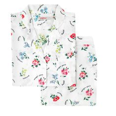 Buy Cath Kidston® Botanical Blooms PJ Set from the Next UK online shop Country Attire, Kids Branding, Cath Kidston, Pj Sets, Pajamas Women, Covered Buttons, Pyjamas, Pajama Set