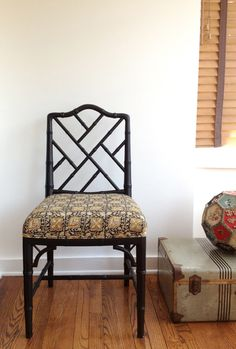 Bamboo Chippendale Chairs-- fits well with ornate living room