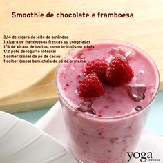Smoothie de chocolate e framboesa