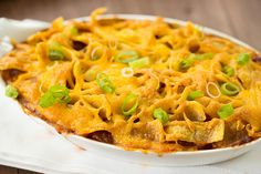 Frito Pie Recipe by browneyedbaker. Super Bowl here we come. Go Broncos!