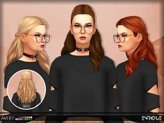 [Enrique] Avery Hair• Works with hats • This hair is available from teen to elder. • It´s Base Game Compatible. • 18 Colors by EA. • Maxis Match Hair. • Please tagme as enriques4 if you get to use this hairstyle on your sim to view