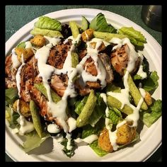 #lowcarb dinner... #grilled #chicken over a simple #salad #paleo by hapster1