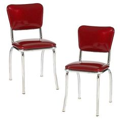 Diner Chair - Set of 2 - Red