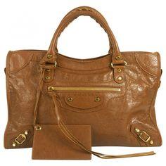 BALENCIAGA Brown City Bag   LOOOOOOOVE. Love black and other colors, too.