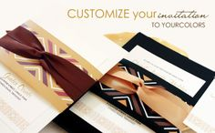 African print inspired wedding invitations