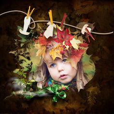 digiscrapbook kit Stumpy story full of fall, leaves, mushrooms   + minikit shine of fall