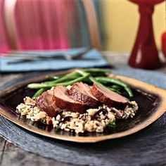 Pork Tenderloin with Pomegranate Glaze | MyRecipes.com #myplate #protein