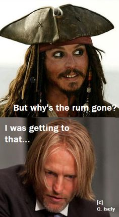 where's the rum  gone? Maymitch and Captain Jack Sparrow