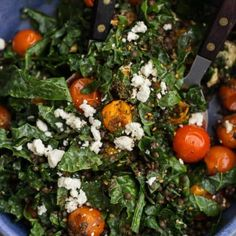 Za'atar Roasted Tomato Salad with Black Lentils   Naturally Ella