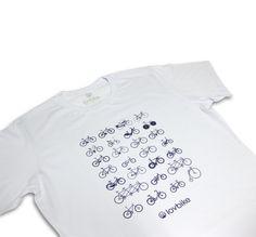 Camiseta Bikes babylook - branca. By lovbike São Paulo - Brasil