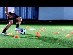 Try to do as many touches as possible while going through the cones in these dribbling #drills.