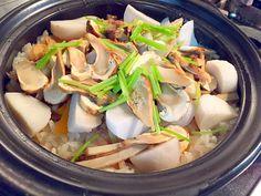 炊かれたいオトコ おこん 小栁津's dish photo 松茸海老土鍋御飯 | http://snapdish.co #SnapDish #お誕生日 #晩ご飯 #パーティー #お月見 #敬老の日