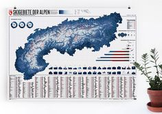 Die Alpen. 633 Skigebiete. Eine Karte.