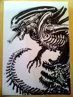 Alien sketch by francesco-biagini