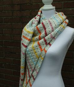 Cable stitch #crochet shawl, a #crochet pattern by Happy in Red