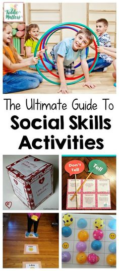 Ultimate Guide To Social Skills Activities Ultimate social skills activities guide with tips, strategies, and printables for teaching kids social skills. Perfect for counselors, parents, and teachers. Social Emotional Activities, Social Skills For Kids, Social Emotional Development, Social Skills Activities, Teaching Social Skills, Learning Activities, Teaching Kids, Kids Learning, Social Skills Lessons