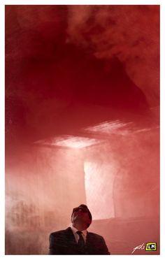 Gaby - Retrato humo rojo