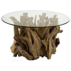 Driftwood Cocktail Table  This will look great in my lake home...when I someday have one!